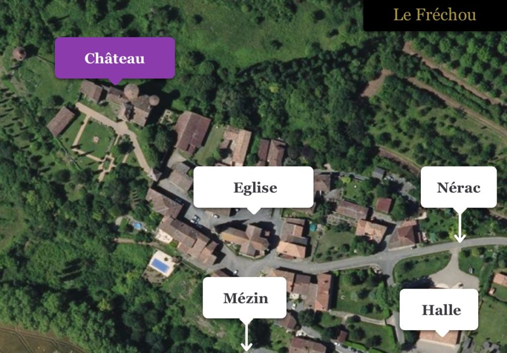 Chateau Aerial map